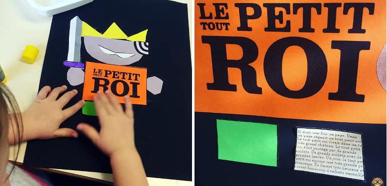 Le Tout Petit Roi - découpage / collage