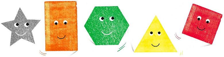 """formes géométriques planes - """"Une place pour moi"""""""